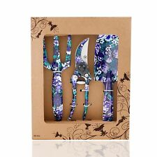 Flora Guard 3 Piece Aluminum Garden Tool Set with Purple Print - Trowel,