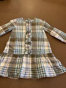 Girls Petit Bateau Age 2 Checked Dress BNWOT