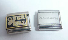 OVER THE HILL 9mm Italian Charm + 1x Nomination Classic Link HAPPY BIRTHDAY N57