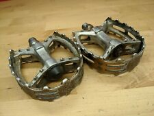 "Vintage Victor VP-747 9/16"" Pedals MTB BMX Bicycle Bike Old School Bear Trap O1"