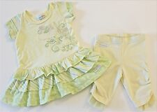 NAARTJIE GIRLS SIZE 3-6 MONTHS SEA SPARKLE TIERED DRESS PEDAL PUSHERS CLEO SET