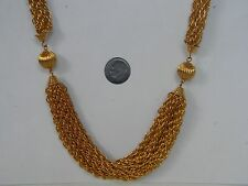 VINTAGE MULTI STAND GOLD TONE NECKLACE 24 INCHES FROM ESTATE SALE
