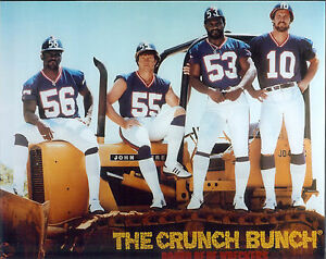 New York Giants Crunch Bunch 8x10 photo Lawrence Taylor, Kelly, Carson, Van Pelt