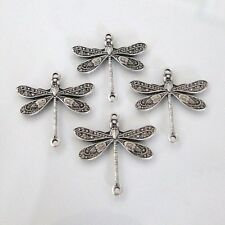 10 Antique Silver - Brass Dragonfly Connectors 17x16mm, Made in USA, AS15