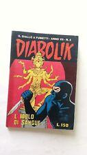 Diabolik anno VII n 4 con cartolina