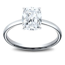 14K Gold 1.01 ct Cushion   Cut Diamond Solitaire Engagement Ring G I1