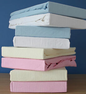 2 x Premium Quality Mini / Space Saver Cot Fitted Sheets  50X100 cm 100%Cotton.