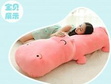 Giant Hippo Toy Doll Plush Soft Bolster Cushion Home Decor Pillow Kids Gifts NEW