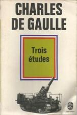 CHARLES DE GAULLE TROIS ETUDES poche + PARIS POSTER GUIDE