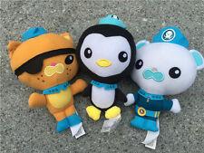 """Fisher Price Octonauts 7"""" Stuffed Plush Dolls Barnacles Kwazii Peso 3pcs New"""