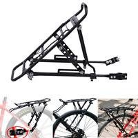 Bike Bicycle Back Rear Bag Pannier Rack Alloy Seat Post Frame Carrier Holder