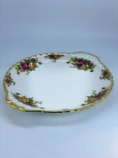 Old Country Roses Royal Albert Bone China England Porcelain Round Serving Tray