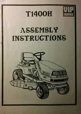 Kubota T1400H HST Riding Lawn Yard Tractor Mower  Dealer Assembly Manual 12pg