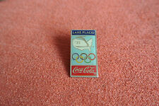 18728 PIN'S PINS JO OLYMPIC WORLDGAMES COCA COLA 1932 LAKE PLACID