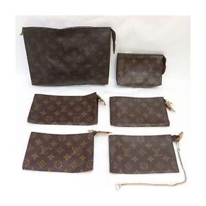 Louis Vuitton Monogram Pouch Accessories Pouch 6 pieces set 525054