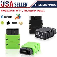 KW902 Bluetooth WiFi OBD2 OBDII Auto Diagnostic Scanner Car Scanner Code Reader