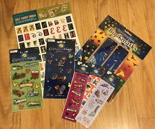 Lot of Vintage Disney scrapbooking stickers and letters + Bookmarks