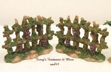 "FONTANINI ITALY 5"" GRAPEVINE FENCES 2PC NATIVITY VILLAGE ACCESSORY SET 59527 NIB"