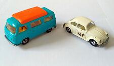 Vintage Matchbox Volkswagen 1500 Saloon & VW Camper 23 - GC Photos
