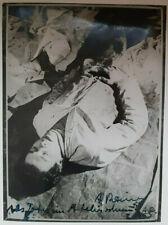 """ARNULF RAINER, """"Als Toter im Atelierschmutz"""" 1955 Foto bezeichnet & handsigniert"""