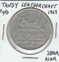 (X) Token - Tandy Leathercraft - 1969 - 38 MM Aluminum
