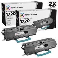 2pk 310-8707 Dell 1720 Black Laser Toner Cartridge GR332 1720dn MW559 310-8709
