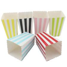 12Pcs Vertical Stripes Popcorn Boxes Kids Favors Birthday Party Home Decor Nice