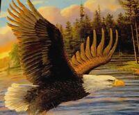 Eagle Royal Plush Raschek Throw (50in. X 60in) American  Heritage Coll. New.