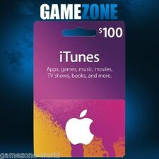 ITunes GIFT CARD $100 USD USA Apple iTunes codice voucher DOLLARI STATI UNITI