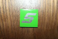"Snap-on tools 1.5"" x 1.5"""" Logo Decal magnet fridge toolbox stainsteel steel grn"