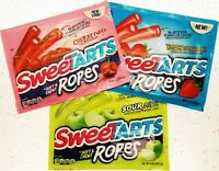 Sweetarts Ropes Soft Chewy Cherry Strawberry Apple Lot American Candy Sweet Tart