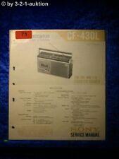 Sony Service Manual CF 430L Cassette Recorder (#0071)