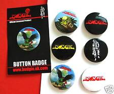 BUDGIE - Button Badges Six x 32mm 2009 LIMITED EDITION!