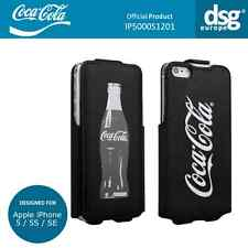 Coca-Cola Genuine Grey Bottle Flip Case Cover for Apple iPhone 5 / 5S / SE