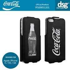 Coca-Cola Genuine Grey Bottle Flip Case Cover for Apple iPhone 5 / 5S / SE
