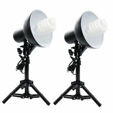 2x Product Photography Table Top Lighting Kit+ 2x 45W CFL Bulb + 2x Light Stand