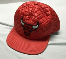 Mitchell & Ness Chicago Bulls Snapback Hat Cap Red Quilted RARE!!