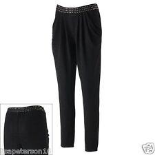 Jennifer Lopez Lurex Black Harem Pants w/Studded Waistband Women's Sz. L MSRP$50