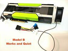 GPU Cooler with Quiet Fan forNvidia Tesla K80 M40 Passive Cooling (Model B)