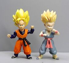 #T324~ LOT OF 2 JAKKS DragonBall Z DBZ SS GOTEN AND SS TRUNKS ACTION FIGURE 3""