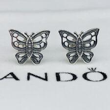 New Pandora Silver Butterfly Stud Earrings