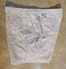 "1103  Old Navy Tan Print Cotton Twill 5"" Length Shorts 16"