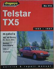FORD TELSTAR TX5 1983-1987 1998cc SERVICE & REPAIR MANUAL Gregory's No 215