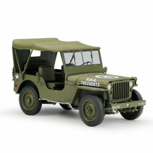 Welly 1:18 Jeep 1941 Willys MB Racing Car Green Diecast Model Closed Top NIB