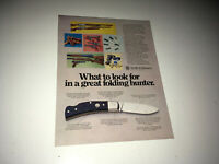 SMITH & WESSON Vintage Ad Sheet 1970s Folding Hunter Knife Advertising Guns