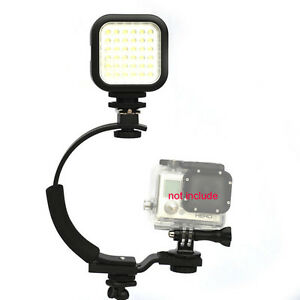 Stabilizing Handle With EVA Case and Portable LED Light for GoPro Hero 1 2 3 3+