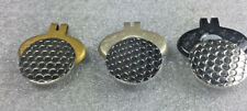 3 Golf Ball Hat Clip Stainless Steel Strong Magnet + 3 Nickel Ball Marker