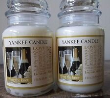 Yankee Candle Tying the Knot  22 oz. Lot of 2Free Shipping NEW RELEASE Romantic