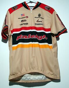 Revi Raleigh 3/4 Zip Size L Short Sleeve Jersey 12/01 Cycling Racing Bicycle