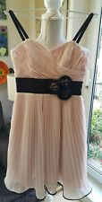 COCKTAIL £89.99  DRESS SIZE 6 NUDE PINK & BLACK STRAPPY BONED FROM JAKE*S MINI